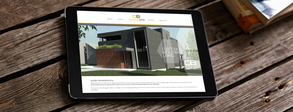 construction company website tablet