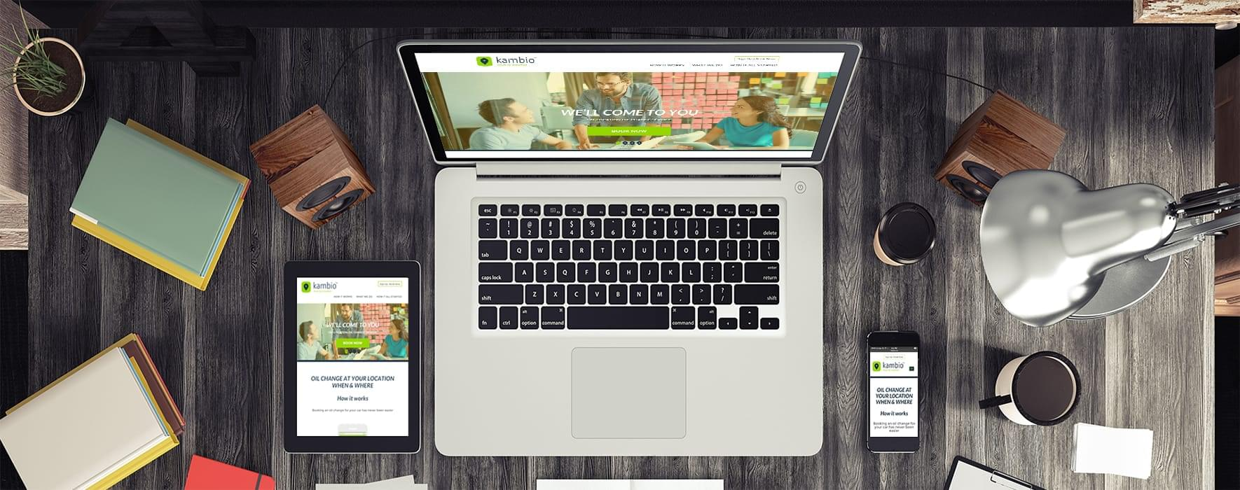 Kambio for website under