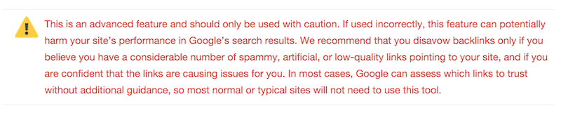 Disavow spammy links