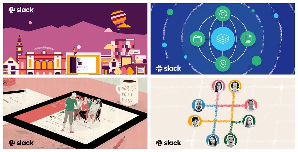 dreamy illustrations Slack