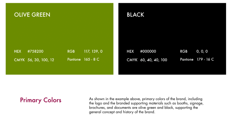 Brand Book Content Branding Colors